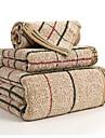 Style frais Ensemble de serviette de bain, Tartan Qualite superieure 100% Coton Serviette Serviette