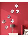 Abstract #D Perete Postituri 3D Acțibilduri de Perete Acțibilduri de Oglindă Autocolante de Perete Decorative,Teracotă Pagina de decorare