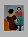 Hang målad oljemålning HANDMÅLAD - Människor Artistisk Duk