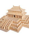 3D Puzzle Jigsaw Puzzle Famous buildings DIY Wood Natural Wood Chinese Style Kid\'s Unisex Gift