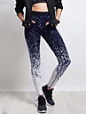 Mulheres Estampada Legging - Estampa Colorida, Estampado Cintura Media