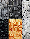 environ 500 pieces / sac 5mm perles perles fusibles hama bricolage puzzle eva materiel safty pour les enfants (6 assortis couleur, b44-b50)