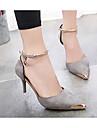 Pentru femei Pantofi Piele de Căprioară Vară Confortabili pantofi de nunta Negru / Gri / Nuntă