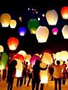 10pcs / set multi culoare de înaltă calitate chineză lanternă de incendiu cer zbura lumânare lampă pentru ziua de naștere felinar de nunta