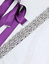 Satin/Tul Nuntă Ocazie specială Zi de Naștere Party/Seara Cercevea With Piatră Semiprețioasă Imitație de Perle Aplică