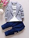 Băieți Seturi Carou Peteci Bumbac Primăvară Toamnă Manșon Lung Set Îmbrăcăminte
