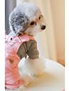 Chien Combinaison-pantalon Vetements pour Chien Respirable Decontracte / Quotidien Britannique Orange Rose Costume Pour les animaux