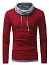 Bărbați Guler Pe Gât Tricou Casul/Zilnic Plus Size Simplu(ă) Șic Stradă,Bloc Culoare Manșon Lung Toamnă-Mediu Poliester