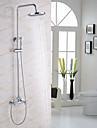 Modern/Contemporan Sistem de Duș Duș Ploaie Împrăștiat Duș De Mână Inclus Două găuri Crom, Robinete de Duș