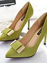 Pentru femei Pantofi PU Primăvară Confortabili Tocuri Toc Stilat Vârf ascuțit Negru / Gri / Verde