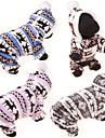 Câine Hanorace cu Glugă Salopete Sfeter Îmbrăcăminte de Iarnă Îmbrăcăminte Câini Bumbac Iarnă Primăvara/toamnă Casul/Zilnic Ren Gri Cafea