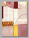 HANDMÅLAD Abstrakt Vertikal, Artistisk Duk Hang målad oljemålning Hem-dekoration En panel