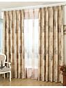 Tratamentul fereastră Contemporan , Copaci/Frunze Dormitor Material Blackout Perdele Draperii Pagina de decorare For Fereastră