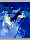 HANDMÅLAD Abstrakt Fyrkantig, Artistisk Duk Hang målad oljemålning Hem-dekoration En panel