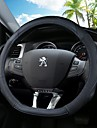 Steering Wheel Covers Leather 38cm Black / Black / Red / Black / Blue For Peugeot 4008 / 408 / 3008 All years