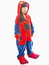 Pijama Kigurumi cu Papuci Spider Pijama Întreagă Costume Flanel anyaga Cosplay Pentru Pentru copii Sleepwear Pentru Animale Desen animat