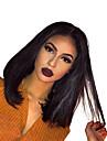 人毛 グルテンフリーレースフロント フロントレース かつら インディアンヘア ストレート かつら ボブスタイル・ヘアカット 130% 毛の密度 ベビーヘアで ナチュラルヘアライン 黒人女性用 女性用 ショート 人毛レースウィッグ