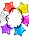 6pcs / lot 5inch balon stele multicolour 5 mic drăguț balon stele foaie