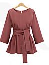 Pentru femei Mărime Plus Size Bluză Mată Broderie