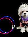 1 st LED Night Light LED-halsband Gul Rosa Blå Grön Vit USB Klippbar Uppladdningsbar Vattentät Dekorativ