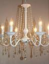 Ljuskronor Glödande - Kristall stearinljus stil, Modern, 110-120V 220-240V Glödlampa inte inkluderad