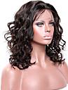Remy-hår Spetsfront Peruk Brasilianskt hår Vågigt 130% 150% 180% Densitet Med Babyhår limfria obearbetade Naturlig hårlinje Mellan Lång