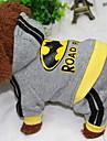 Hund Kappor Huvtröjor Jumpsuits Hundkläder Bokstav & Nummer Grå Cotton Kostym För husdjur Ledigt/vardag