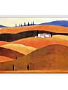 HANDMÅLAD Landskap Horisontell Panoramautsikt Duk Hang målad oljemålning Hem-dekoration En panel
