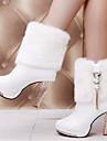 Pentru femei Pantofi Păr Cal Primăvară Toamnă Confortabili Cizme pentru Casual Alb Negru