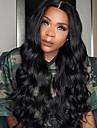 Äkta hår 360 Fasad Peruk Löst vågigt Med babyhår 150% Densitet Till färgade kvinnor Naturlig hårlinje Korta Mellan Lång Dam