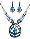 Pentru femei Cristal Set bijuterii - Cristal Picătură Declarație, Vintage Include Albastru Închis Pentru Petrecere / Ceremonie / Σκουλαρίκια / Coliere