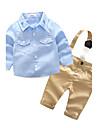 Bebelus Băieți Zilnic Culori solide Brodat Set Îmbrăcăminte Toamnă