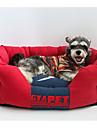 Perro Camas Mascotas Colchonetas y Cojines Caricatura Amarillo Rojo Azul Azul Claro Para mascotas