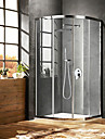 Comtemporary Shower System Rain Shower Ceramic Valve One Hole Chrome, Shower Faucet