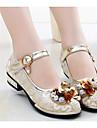 Fete Pantofi PU Toamnă Iarnă Confortabili Pantofi Fata cu Flori Adidași Pentru Casual Auriu Roz