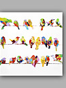 HANDMÅLAD Djur Fyrkantig, Formell Artistisk Stil Artistisk Klassisk Stil Duk Hang målad oljemålning Hem-dekoration En panel