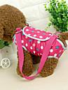 Gato Cachorro Bolsa de Ombro Animais de Estimacao Transportadores Portatil Poa Azul Rosa claro
