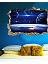 Abstrakt fantasi 3D Väggklistermärken Väggstickers i 3D Dekrativa Väggstickers, Papper Hem-dekoration vägg~~POS=TRUNC Vägg