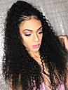 Äkta hår Spetsfront Peruk Brasilianskt hår Kinky Curly Med babyhår 150% Densitet Naturlig hårlinje Korta Mellan Lång Dam Äkta peruker med