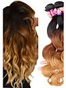 3 Связки Бразильские волосы Естественные кудри Remy Омбре 12-22 дюймовый Ткет человеческих волос Расширения человеческих волос