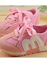 Flickor Skor Andningsbart Nät Vår Höst Komfort Sneakers Till Casual Svart Röd Blå Rosa