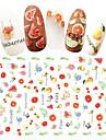 1 3D Nail Stickers Klistermärke Andra dekorationer Mode Dagligen Hög kvalitet