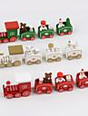 4 buc / set Crăciun cadou din lemn tren decoratiuni interioare copii copii 20 * 4.5 * 3cm