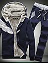 Bărbați Capișon Jachetă Casul/Zilnic Simplu,Imprimeu Manșon Lung Iarnă-Regular Bumbac