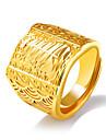 Bărbați Supradimensionat Inel de declarație / manşetă Ring - Geometric Shape Declarație / Supradimensionat Auriu Inel Pentru Alte / Zilnic