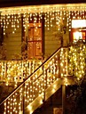 Kerst guirlande led gordijn ijspegel string licht 220 v 1.5 m 48 leds indoor drop led party tuin podium outdoor decoratieve licht