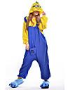 Kigurumi-pyjamas Mini gula män Animé Onesie-pyjamas Kostym Polär Ull Blå Cosplay För Pyjamas med djur Tecknad serie halloween Festival /