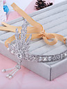 Coroană Lolita dulce Tiare Nuntă Prințesă Pentru femei Fete Argintiu Lolita Accesorii Tiare & Coroane Veșminte de cap