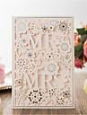 Card Plat Invitatii de nunta 20buc - Invitații Stil Artistic Stil Mire & Mireasă Floral Stil Floral Hârtie Reliefată Stil motiv floral