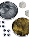 2 pcs Magnetleksaker Magnetisk magisk lera / Byggklossar / Puzzle Cube Magnet / DIY Magnetisk typ / Ny Design / Stress och ångest Relief Nyhet / Ögon Barn / Vuxna Present